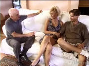 Husband watches when his MATURE WIFE gets fucked by a young guy...
