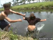 Picked up a girl in the limo, Jizzed on her face, Then pushed her in the lake and ran away ...