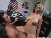Busty Secretary Rides Boss In Lunch Time