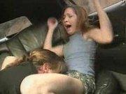 Beautiful Hooker spanking in the Car