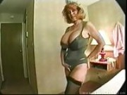 Hot mature with XXL boobs having groupsex with five guys