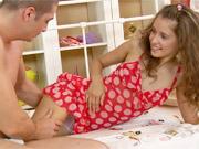 Teen seducing the man next door